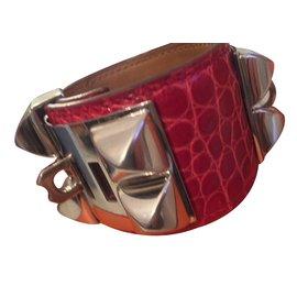 Hermès-Collier de Chien Rouge-Rouge