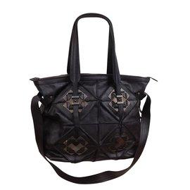 Salvatore Ferragamo-Handbag-Black,Dark grey