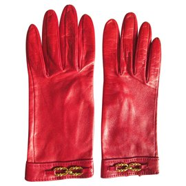 Hermès-Gloves-Red