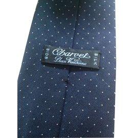 Charvet-Cravate-Bleu