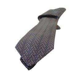 Hermès-Cravate-Gris