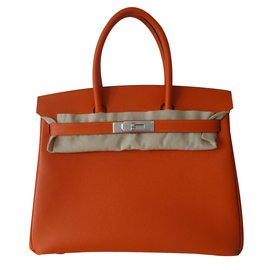 Hermès-SAC HERMES BIRKIN 30-Orange