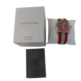 Calvin Klein-Montre à quartz-Rouge