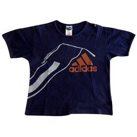Adidas-Tops garçon-Bleu