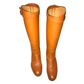 Hermès-Boots-Caramel