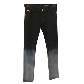 Just Cavalli-Ombre skinny jeans-Black