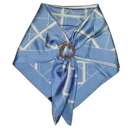 Yves Saint Laurent-Foulard-Bleu