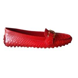 Louis Vuitton-Oxford en python-Rouge