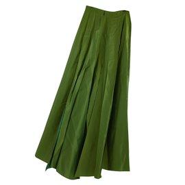 Chanel-Jupe plissée-Vert