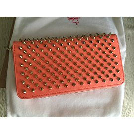 Christian Louboutin-Panettone Wallet spikes-Rouge