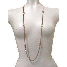Céline-Celine Horse  and Carriage Long Necklace-Golden