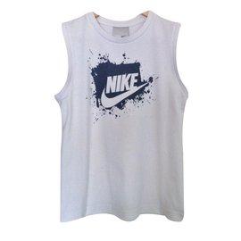 Nike-Tops garçon-Blanc