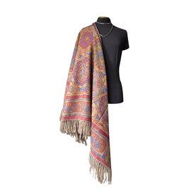Lanvin-Châle LANVIN imprimé en cachemire et laine –-Multicolore