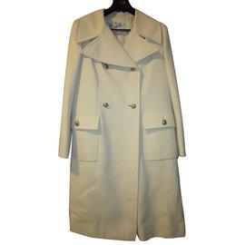 Dior-Manteau vintage-Blanc