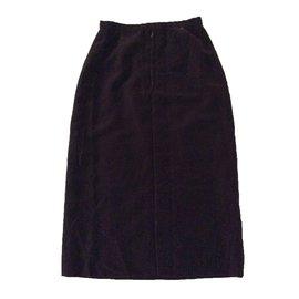 Chanel-Skirt-Brown
