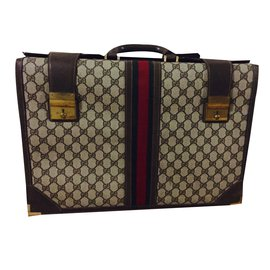 Gucci-Bags Briefcases-Brown