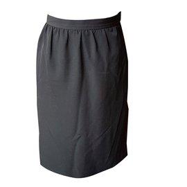Yves Saint Laurent-Jupe-Noir