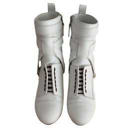 Fendi-Bottines Fendi-Blanc
