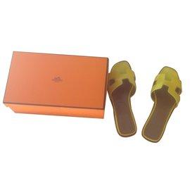 Hermès-Sandals-Yellow