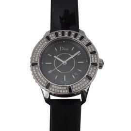 Dior-MONTRE DIOR CHRISTAL NOIRE DIAMANTS-Noir