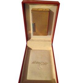 St Dupont-Dupont lighter 80s vintage-Golden