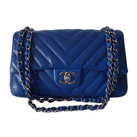 Chanel-CHANEL CHEVRON-Blue
