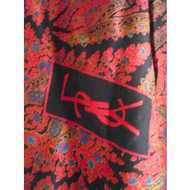 Yves Saint Laurent-superbe grand châle Yves saint Laurent-Multicolore