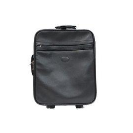 Longchamp-Valise cabine a roulette longchamp en cuir noir-Noir,gris anthracite