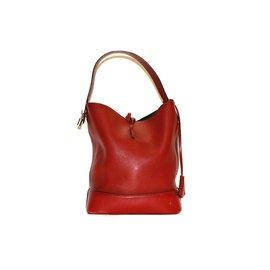 Louis Vuitton-Sac louis vuitton en cuir souple rouge-Rouge