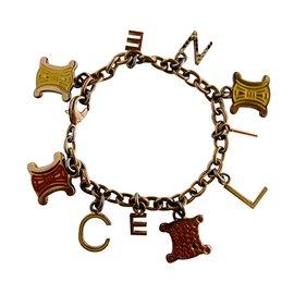 Céline-Celine Charm Bracelet-Golden