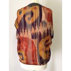 Dries Van Noten-blouse sans manches-Multicolore