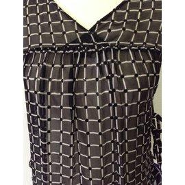 Dries Van Noten-blouse 100% soie-Noir