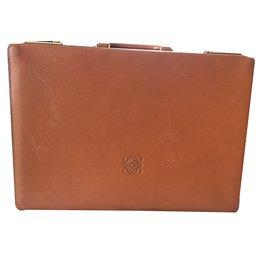 Loewe-Bag Briefcase-Cognac