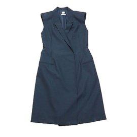 Hermès-Robe sans manche-Bleu