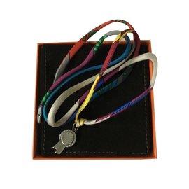 Hermès-Lien hermès multicolore-Multicolore