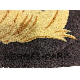 Hermès-DRAP DE PLAGE-Gris
