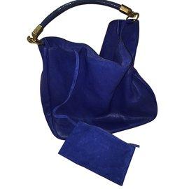 Yves Saint Laurent-Sac YSL modèle Roady-Bleu