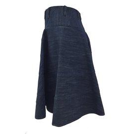 Alaïa-Tailleur jupe-Bleu