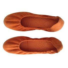 Hermès-Ballet flats-Orange