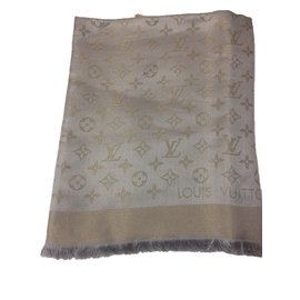 Louis Vuitton-Châle-Beige
