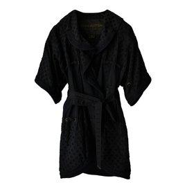 Louis Vuitton-Kimono Manteau Veste-Noir