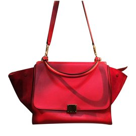 Céline-Trapèze Medium-Rouge