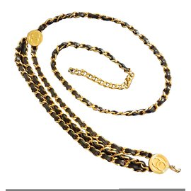 Chanel-Long necklace-Golden