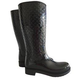 Louis Vuitton-Bottes splash flat hight boot-Noir