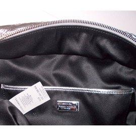 Gianni Versace-Handbag-Grey,Metallic