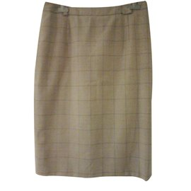 Burberry-Skirt-Beige
