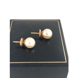 No Brand-Neuves boucles d'oreilles perles du Japon-Doré