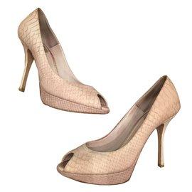 Christian Dior-Heels-Beige