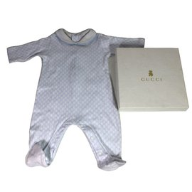 Gucci-Baby sleepsuit-White,Blue
