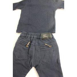 Burberry-Ensemble tshirt et pantalon-Bleu